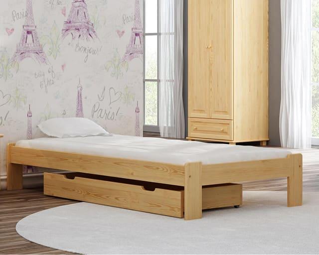 Giường gỗ thông 1m x 2m