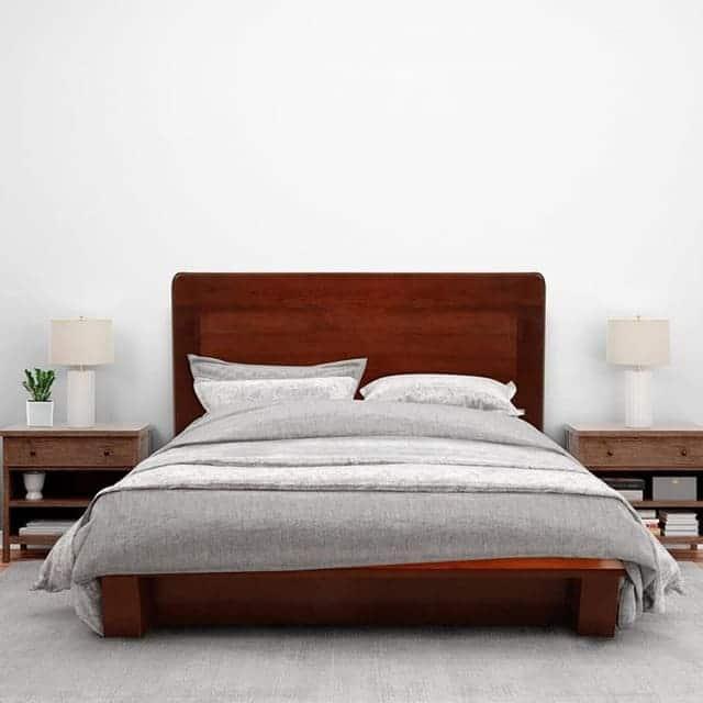 Giường gỗ xoan đào 1m2 x 2m