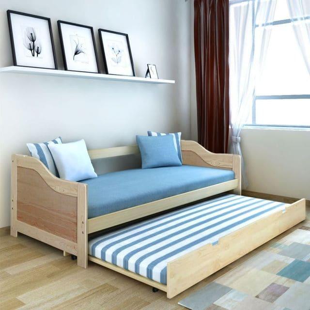 Giường ngủ gấp gỗ 2 tầng tích hợp 7 tiện ích
