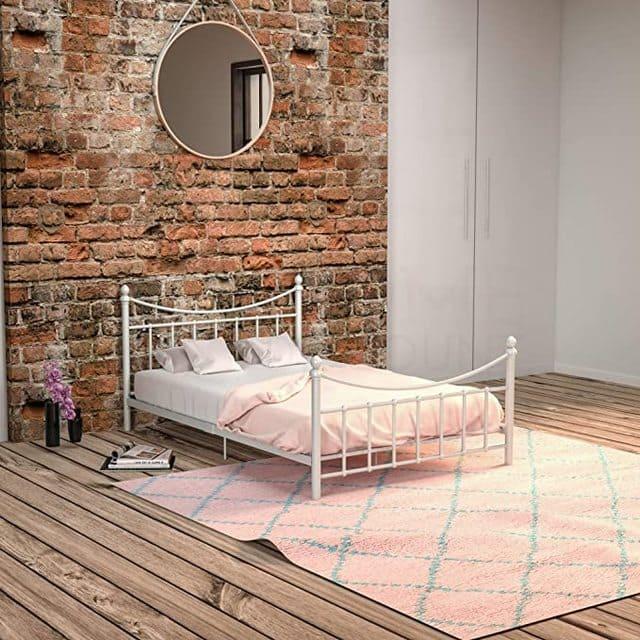 Giường ngủ sắt màu trắng ngà giá rẻ cho sinh viên nữ - ảnh 2