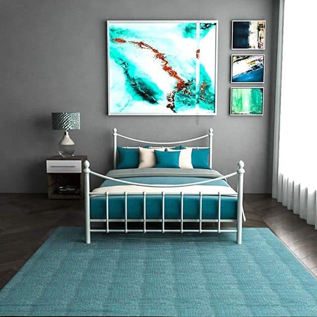 Giường ngủ sắt màu trắng ngà giá rẻ cho sinh viên nữ - ảnh 3