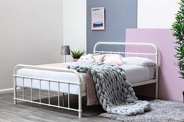 Giường ngủ sắt màu trắng ngà giá rẻ cho sinh viên nữ - ảnh 5