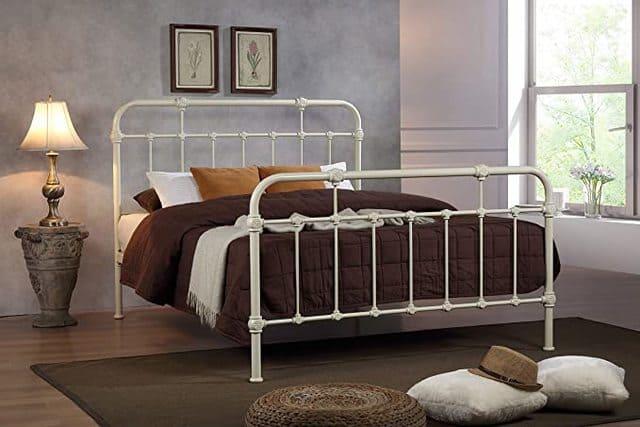 Giường ngủ sắt màu trắng ngà giá rẻ cho sinh viên nữ - ảnh 6