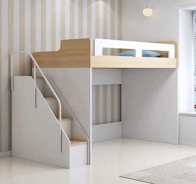 Giường tầng gỗ công nghiệp có ngăn kéo