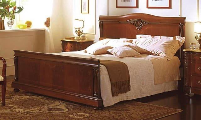 Giường ngủ óc chó kiểu cao cấp
