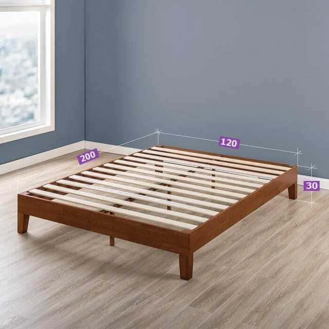 Mẫu giường gỗ thông không đầu hiện đại - ảnh 2