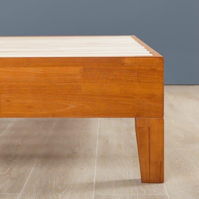 Mẫu giường gỗ thông không đầu hiện đại - ảnh 3