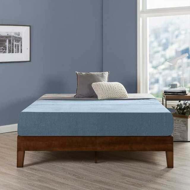 Mẫu giường gỗ thông không đầu hiện đại - ảnh 4