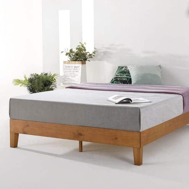 Mẫu giường gỗ thông không đầu hiện đại - ảnh 5
