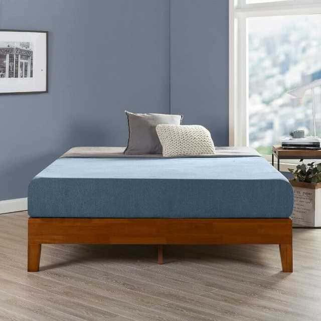 Mẫu giường gỗ thông không đầu hiện đại