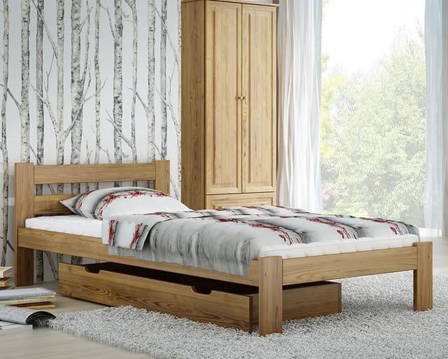 Giường gỗ 1m x 2m có ngăn kéo