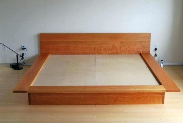 Phong thủy kê dát giường hộp gỗ tự nhiên