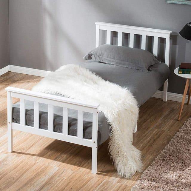 giường đơn gỗ thông giá rẻ chỉ với 1 triệu - ảnh 2