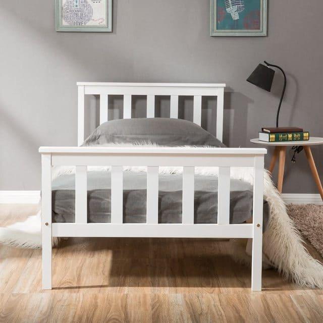 giường đơn gỗ thông giá rẻ chỉ với 1 triệu