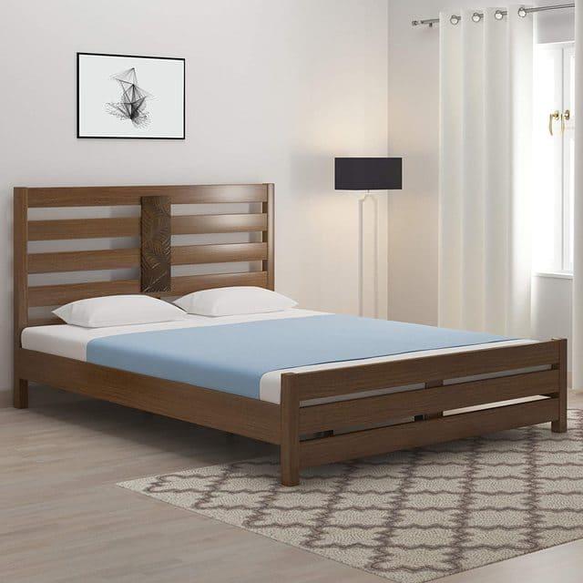 giường gỗ xoan đào 1m