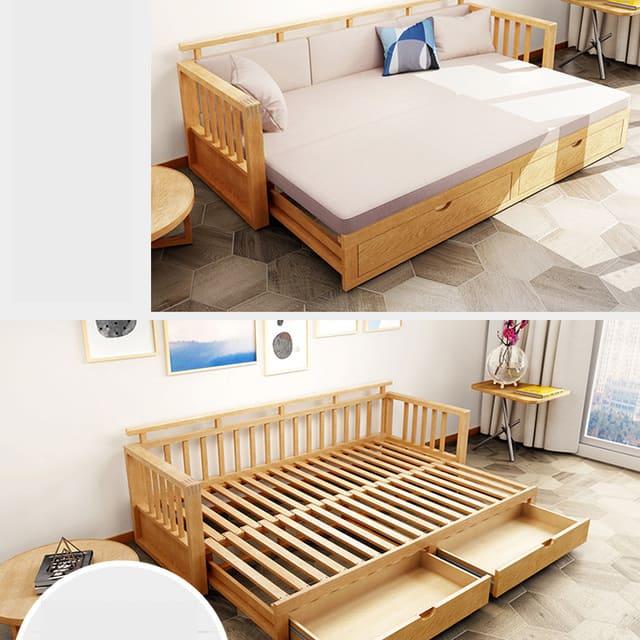 Sofa giường thông minh bằng gỗ