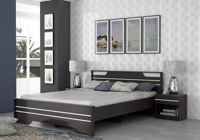 Giường đôi gỗ công nghiệp