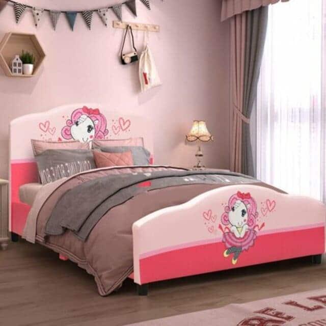 Giường đơn cho bé gái kiểu công chúa