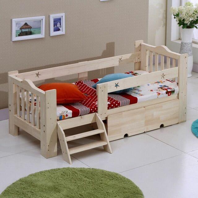 Giường đơn gỗ công nghiệp
