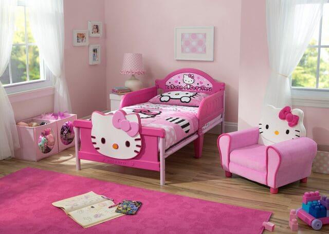 Giường đơn cho bé gái Hello Kitty