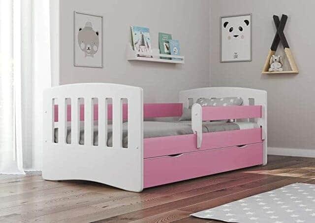 Giường đơn cho bé gái có ngăn kéo