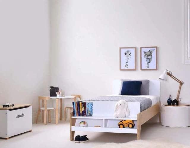 Giường đơn cho bé gái hiện đại