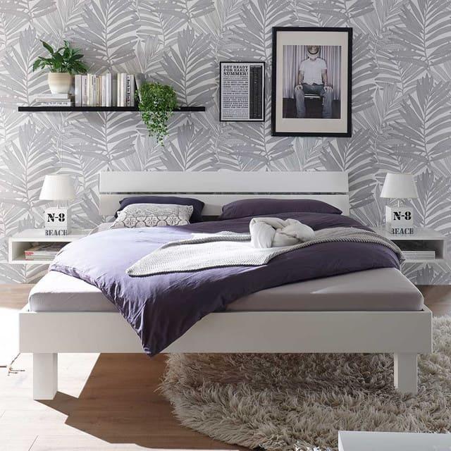 Giường ngủ 1m2 trắng