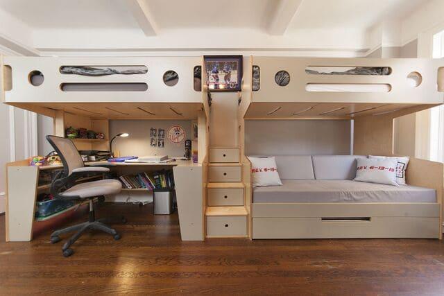 Giường tầng thông minh cho người lớn
