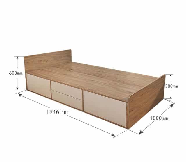 Kích thước giường đơn lỗ ban