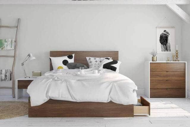 Mẫu giường đôi có ngăn kéo