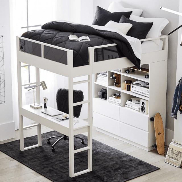 giường tầng thông minh bằng gỗ