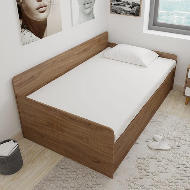 sofa giường đơn bằng gỗ