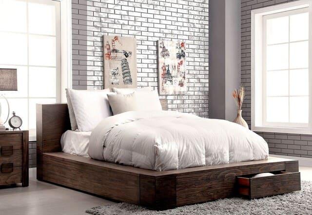 Giường hộc kéo gỗ đinh hương