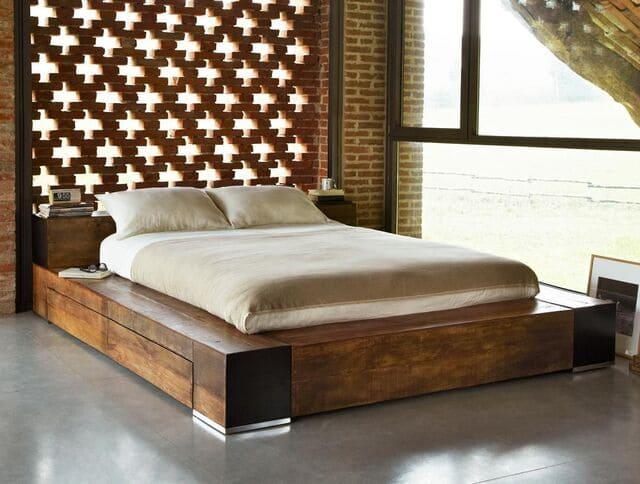 Giường kiểu Nhật có hộc kéo