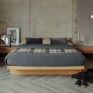 Giường ngủ kiểu Nhật gỗ sồi