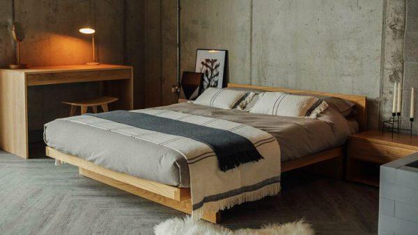 Giường ngủ kiểu Nhật gỗ sồi GB02