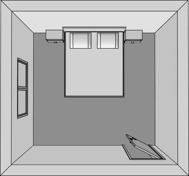 Kê giường ngủ đối diện với cửa phòng ngủ