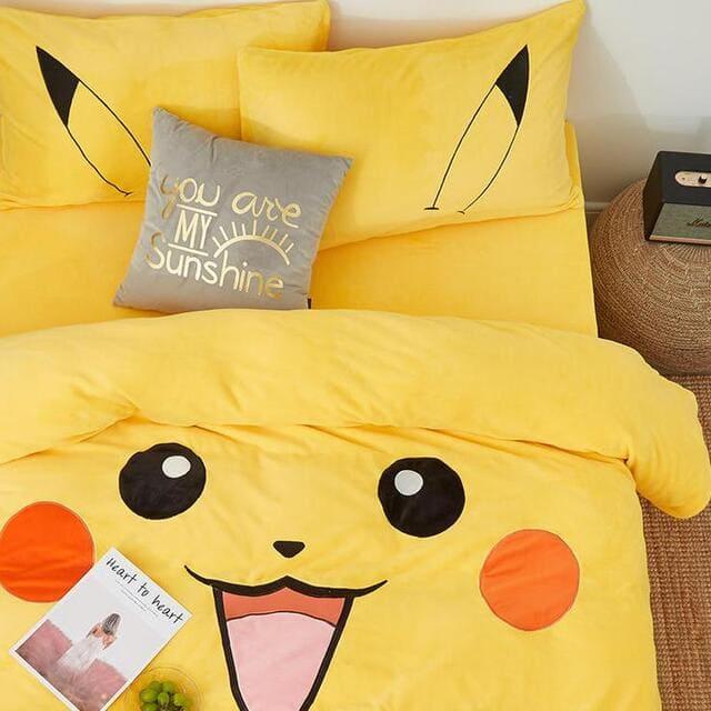 Bộ chăn ga gối Pikachu