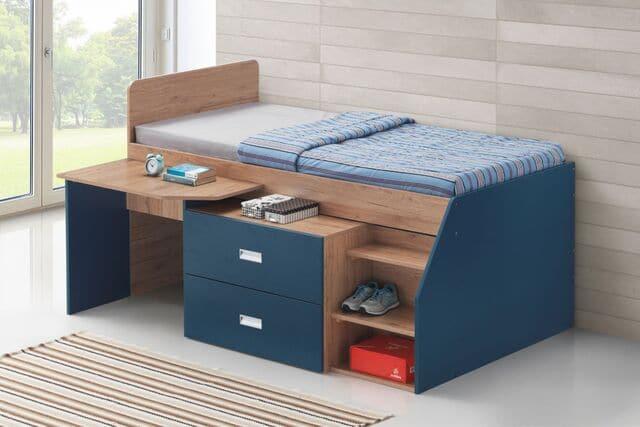 Giường đơn kết hợp bàn học