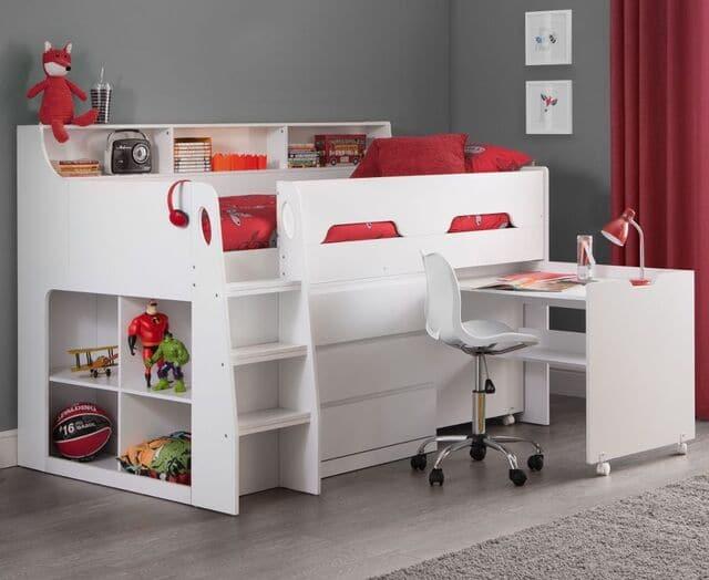 Giường ngủ kết hợp bàn học cho bé trai