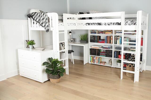Giường ngủ kết hợp với bàn học bằng gỗ