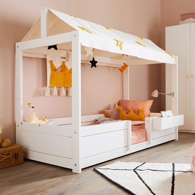 Mẫu giường công chúa có mái che