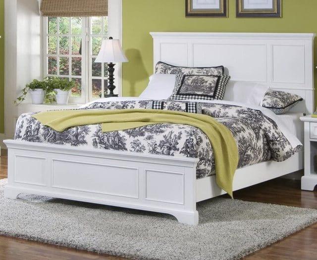 Mẫu giường cổ điển sơn trắng