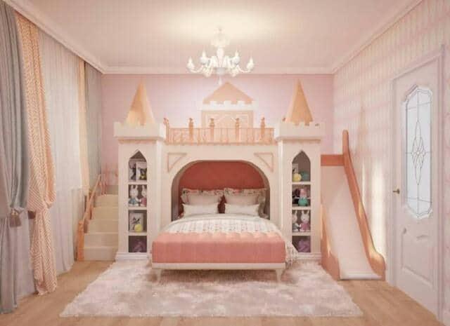 Mẫu giường ngủ kết hợp lâu đài