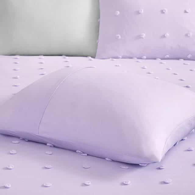 Bộ chăn bông màu tím mộng mơ
