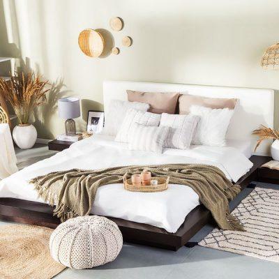 giường bệt kiểu Nhật sơn đen
